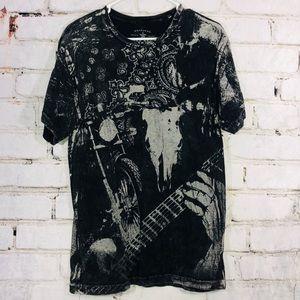 Grey stAr graphic tee shirt top men's medium Moto